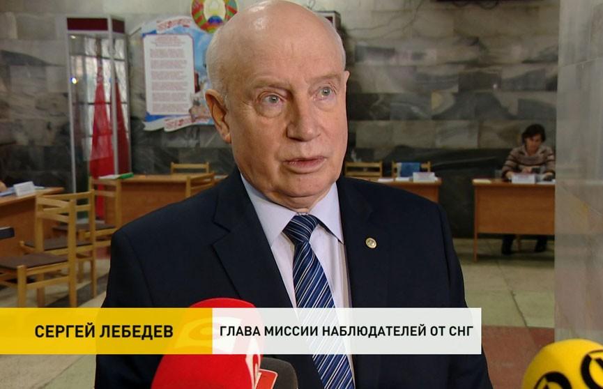 Сергей Лебедев: наблюдатели отмечают, что голосование проходит без нарушений
