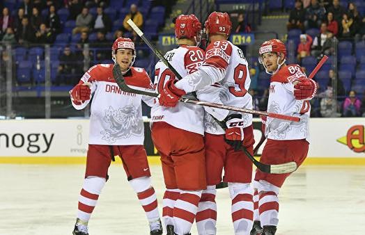 Чемпионат мира по хоккею: сборная Дании разгромила команду Великобритании