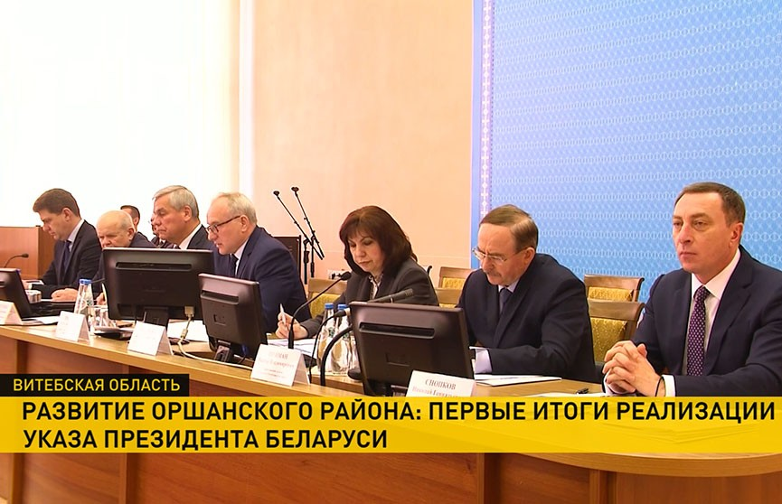 Первые итоги работы Указа Президента «О развитии Оршанского района» обсудили в регионе
