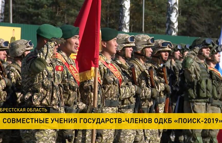 Под Барановичами началось учение ОДКБ «Поиск-2019»