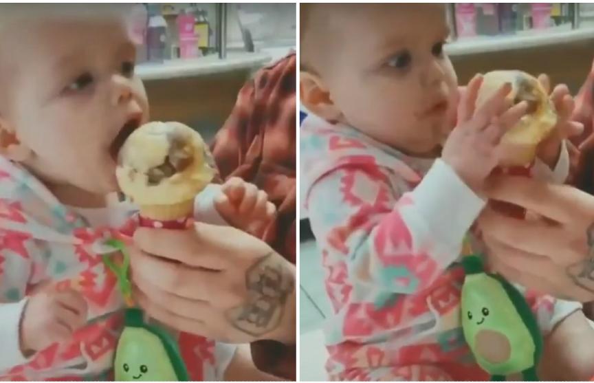 Комичная реакция на первое в жизни мороженое принесла младенцу популярность в Сети