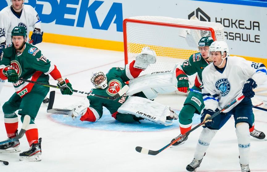 Хоккеисты минского «Динамо» проиграли «Ак Барсу» в Кубке ЛЖД
