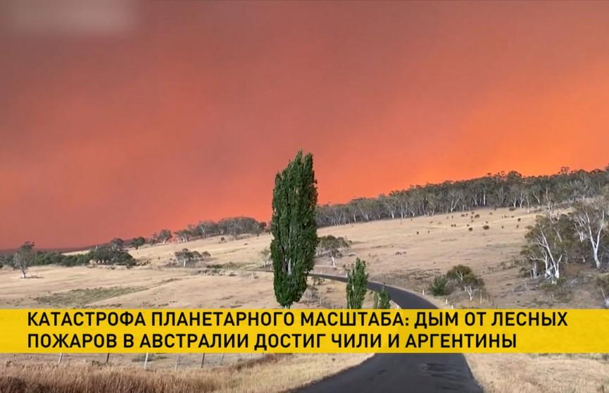 Дым от австралийских пожаров достиг Чили и Аргентины