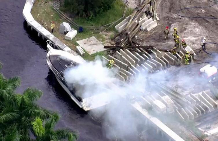 Взрыв на катере во Флориде: пострадали 13 человек