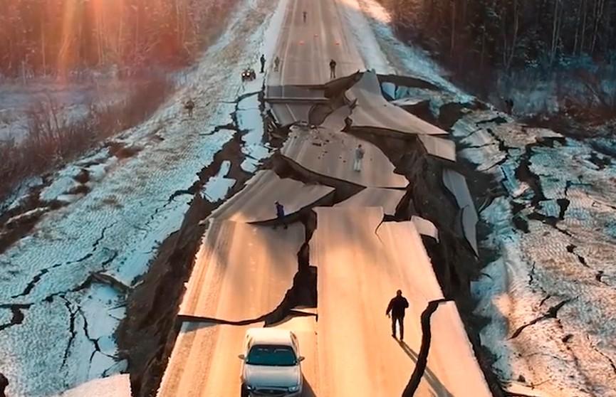 Шокирующее видео последствий землетрясения на Аляске появилось в Интернете