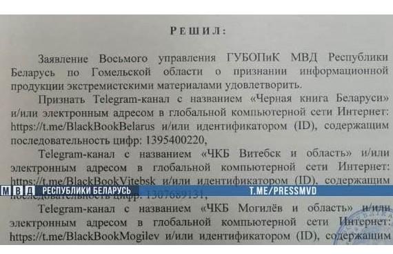 Признаны экстремистскими еще 6 телеграм-каналов