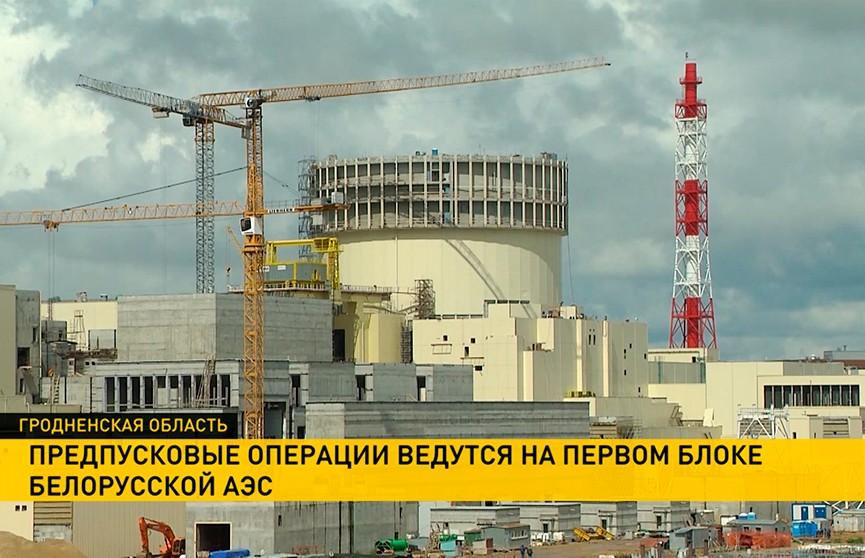 Предпусковые работы начались на первом блоке БелАЭС