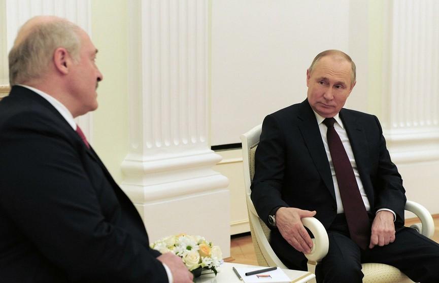 Лукашенко и Путин встретятся 28 мая в Сочи