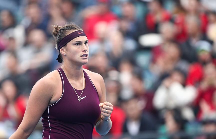 Арина Соболенко вышла в четвертьфинал теннисного турнира в Ухане