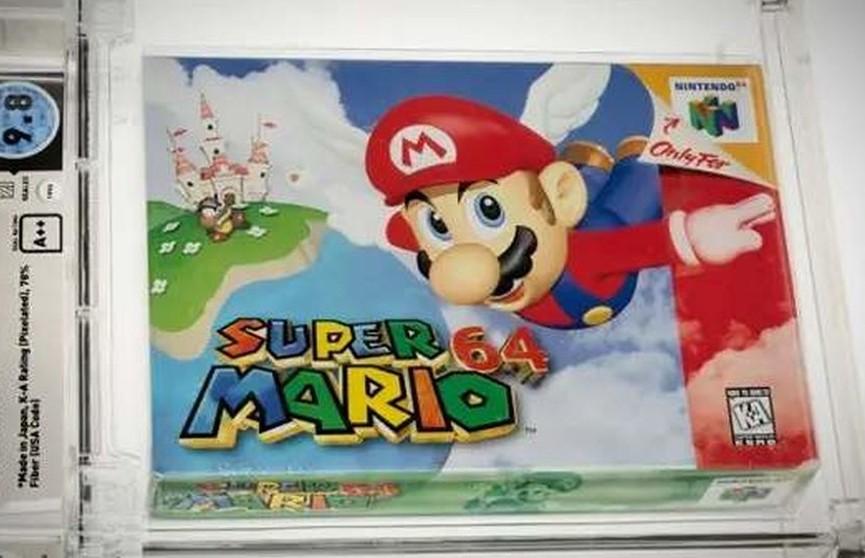 Картридж с игрой Super Mario 64 продали за $1,56 млн