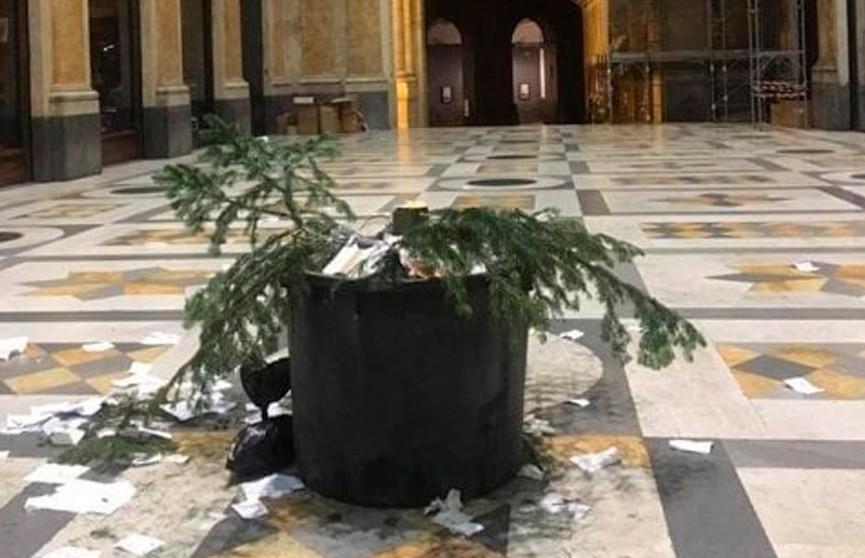 Воры украли ёлку в Неаполе