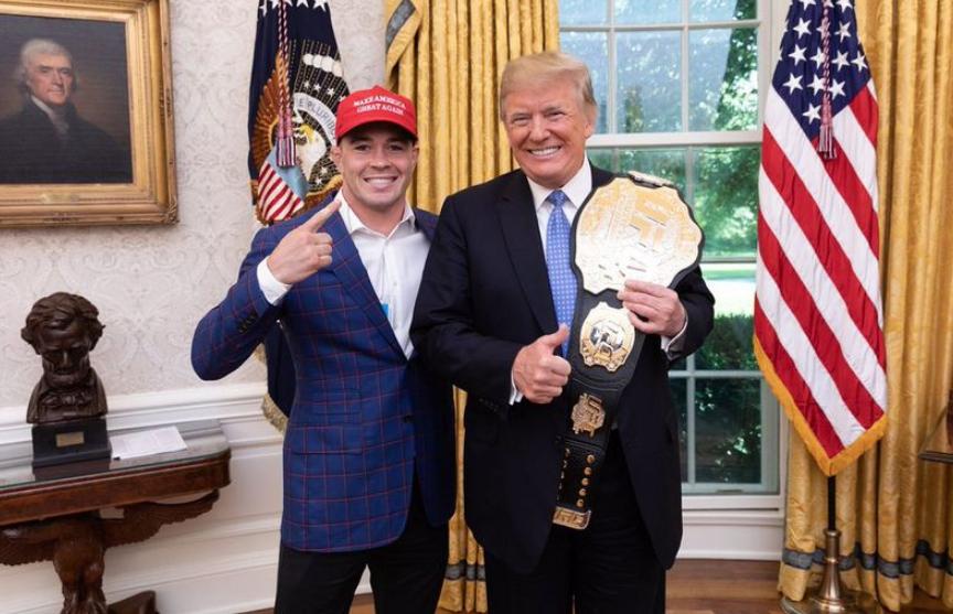 Друг Дональда Трампа поборется за титул UFC и обещает не подвести президента США