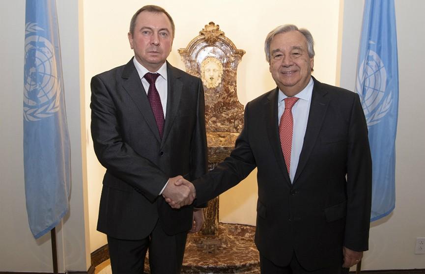 Генеральному секретарю ООН передано приглашение от Президента Беларуси принять участие в открытии II Европейских игр