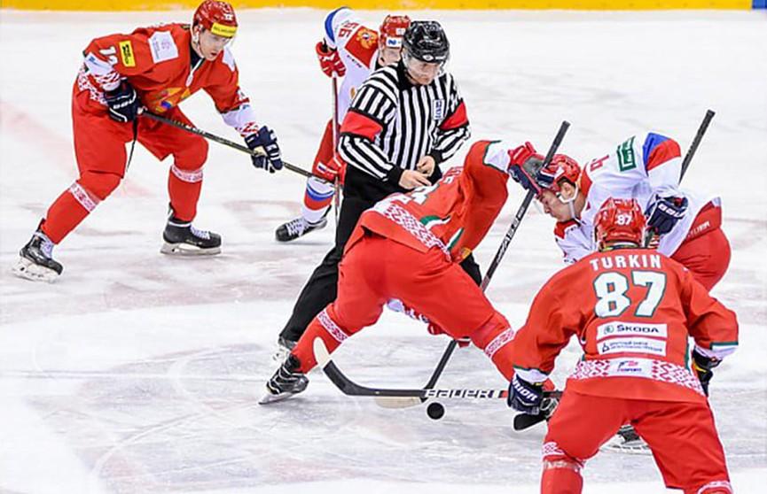 Сборная Беларуси по хоккею уступила в товарищеском матче команде из России