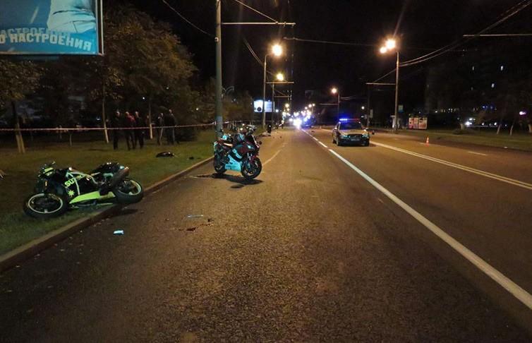 ДТП с участием мотоциклистов произошло в Гомеле: СК устанавливает очевидцев