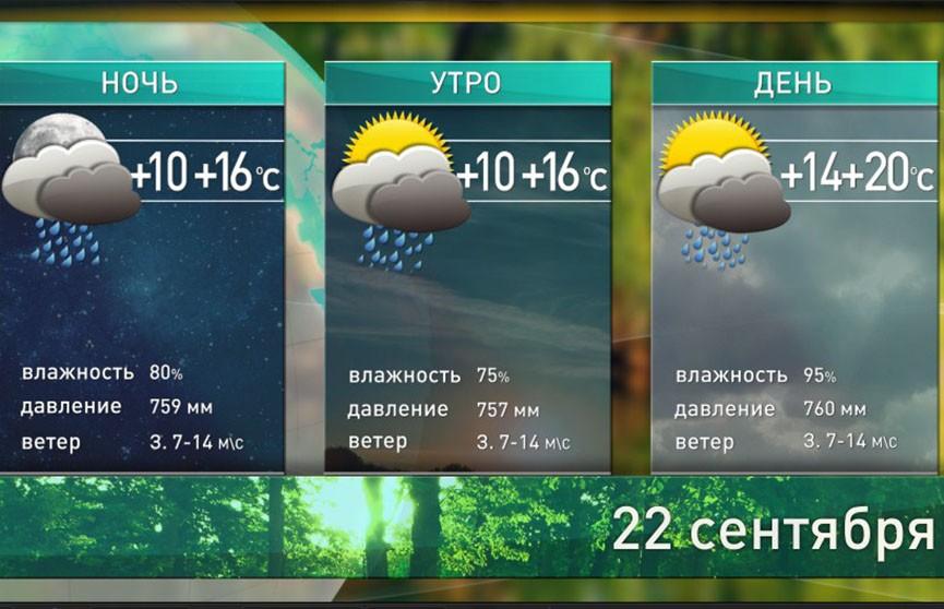 Прогноз погоды на 22 сентября