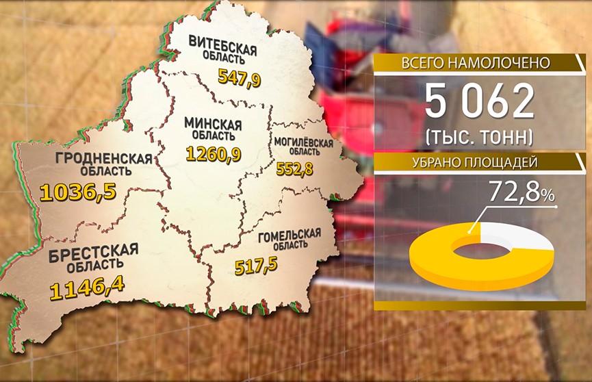 Более 70% площадей убрано в Беларуси