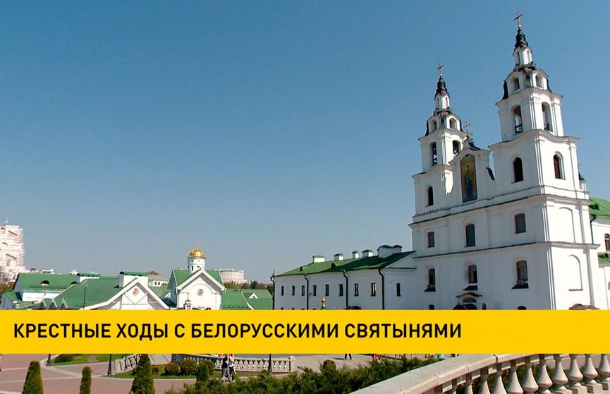 В Минск привезли чудотворную Жировичскую икону Божьей Матери