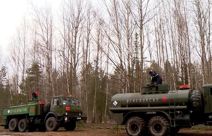 Комплексная проверка боеготовности армии: призывники запаса развернули масштабный склад горючего