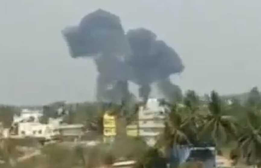 Два самолёта потерпели крушение во время подготовки к авиасалону в Индии