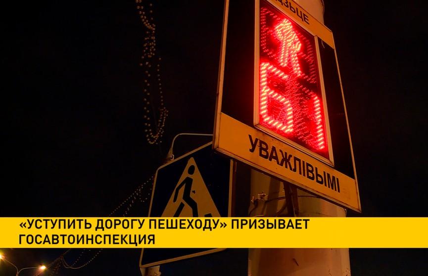 «Уступить дорогу пешеходу» призывает Госавтоинспекция