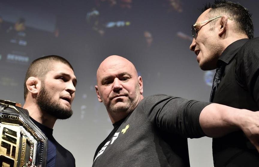 ФК «Динамо» предложил UFC провести бой Нурмагомедова и Фергюсона в Минске