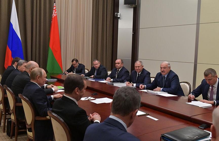 Переговоры Александра Лукашенко и Владимира Путина завершились. Первые итоги встречи