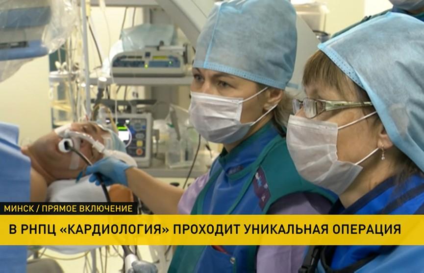 Сердечная недостаточность – не приговор! В РНПЦ «Кардиология» проходит уникальная операция по имплантации инновационного устройства