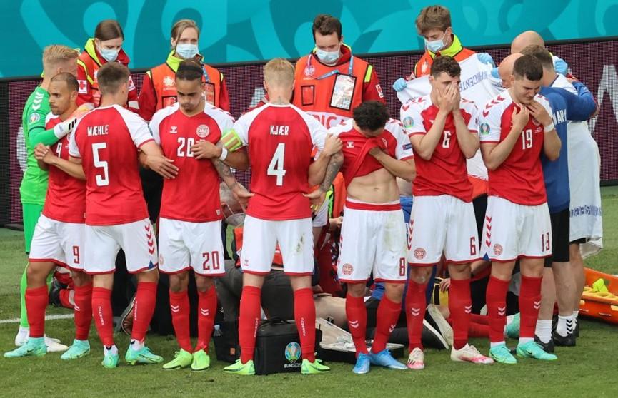 Футболист сборной Дании Эриксен потерял сознание в первом тайме матча Евро с финнами