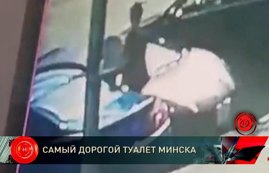 Россиянин в Минске помочился на чужое Lamborghini, разбил стекло урной и затушил сигарету о сидение. Смотрите видео