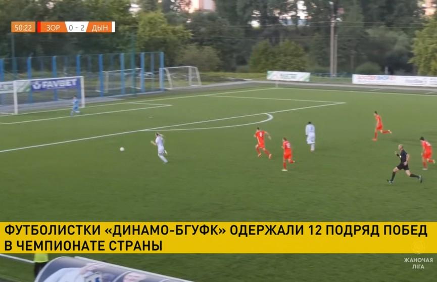 Футболистки «Динамо-БГУФК» одержали 12-ю победу подряд в чемпионате страны