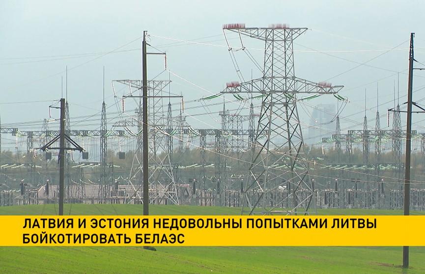 Латвия и Эстония недовольны попытками Литвы бойкотировать БелАЭС