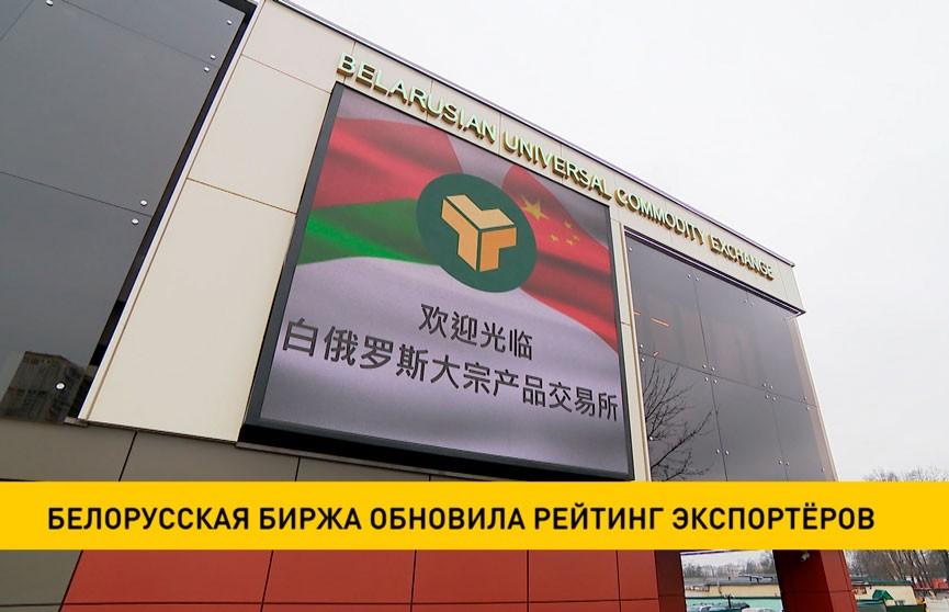 Белорусская биржа обновила рейтинг экспортёров