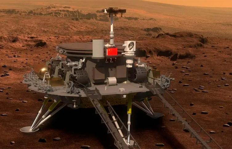 Китай впервые в истории совершил успешную посадку космического аппарата на Марсе