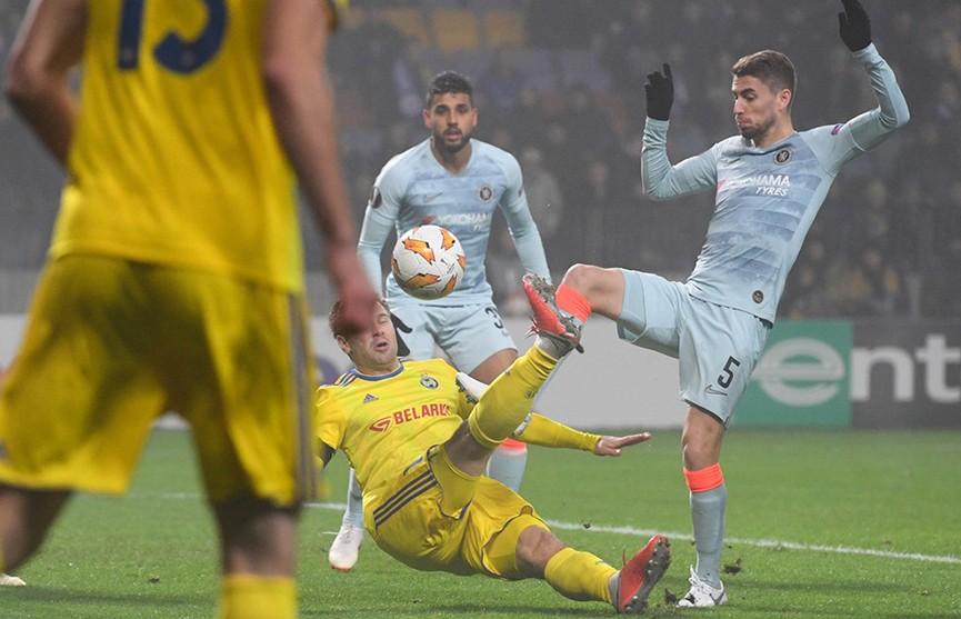 БАТЭ уступил в Лиге Европы «Челси», показав очень достойную игру
