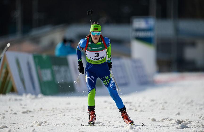 Елена Кручинкина завоевала золото в гонке преследования на ЧЕ по биатлону в «Раубичах»