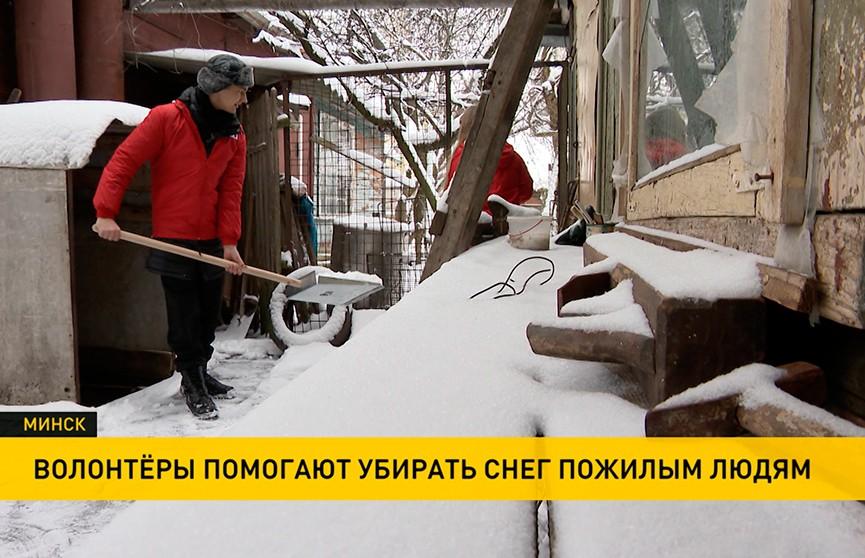 Волонтёры «Доброго сердца» помогали пенсионерам убирать снег во дворах