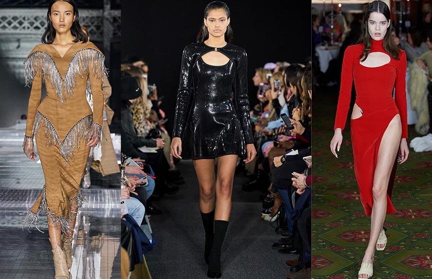Железная бахрома, много вырезов и блёстки: главные тренды недели моды Нью-Йорка и Лондона