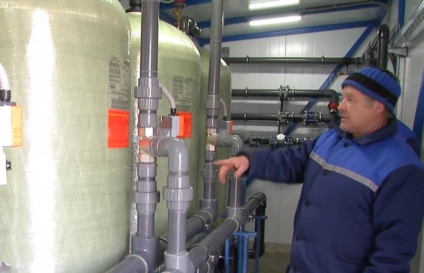 В агрогородке Маложин Брагинского района построили новую станцию обезжелезивания