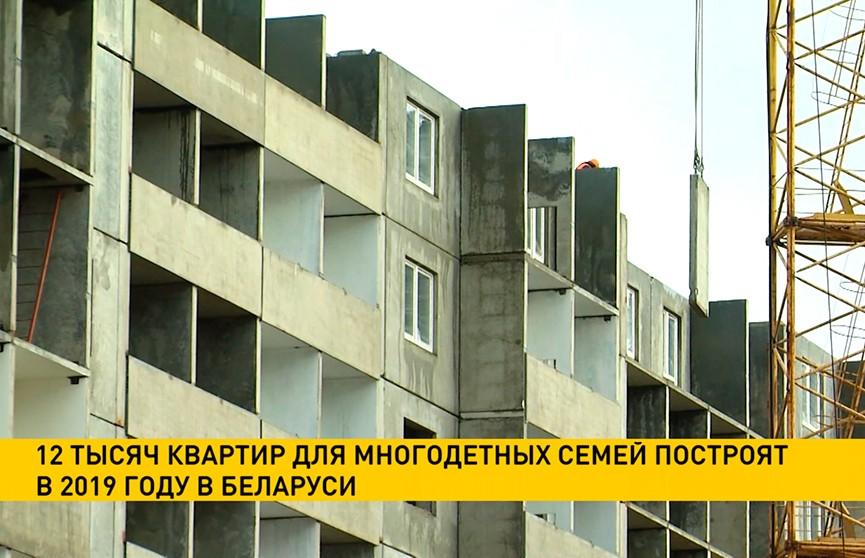 12 тысяч квартир для многодетных семей построят в 2019 году в Беларуси