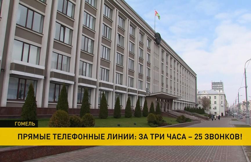 Более 20 человек обратились на прямую линию в Гомельский облисполком