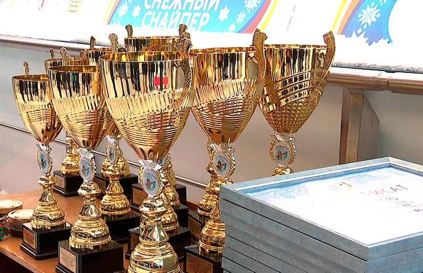 В Раубичах вручили награды победителям соревнований по биатлону «Снежный снайпер»