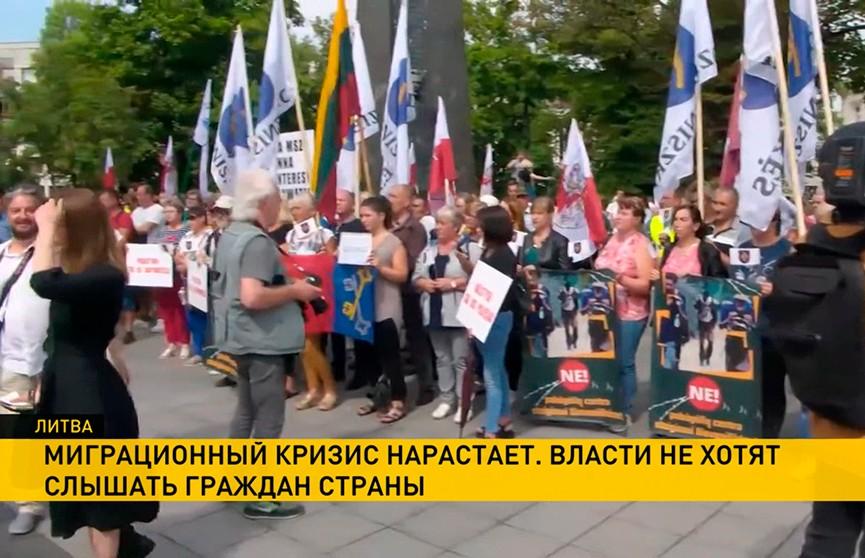 Литовцы против размещения лагеря мигрантов в Девянишкесе