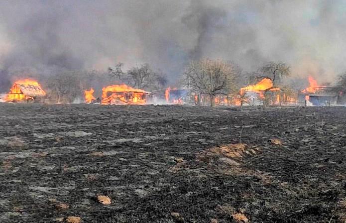 Более 20 домов сгорели в Щучинском районе