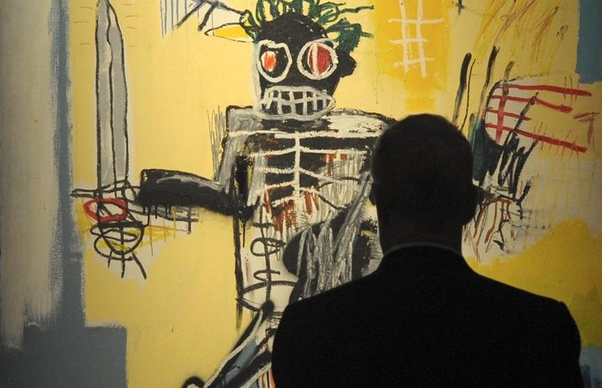 Картину Жана-Мишеля Баскии «Воин» выставили на аукцион