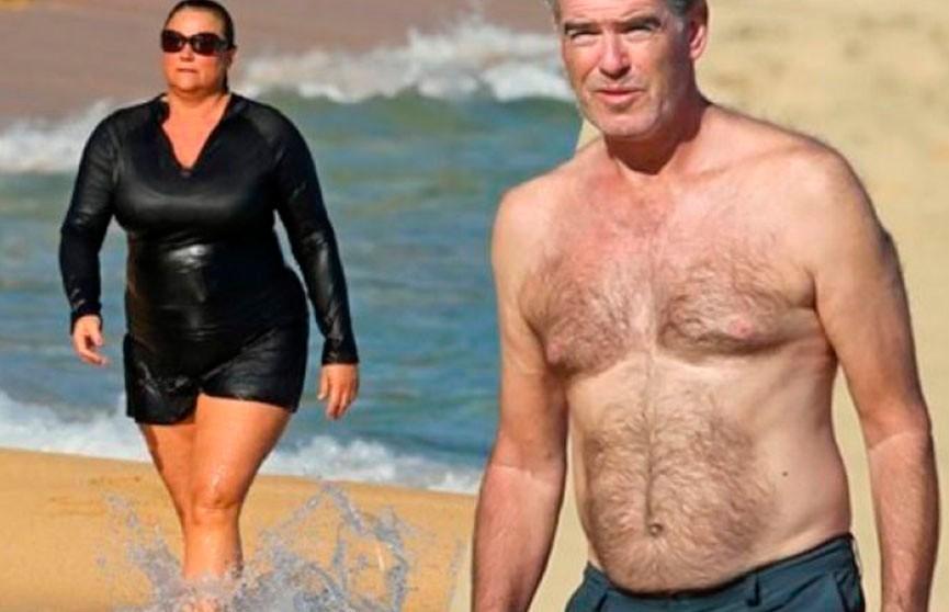 СМИ негодуют: почему красавец Пирс Броснан не поменяет жену (120кг) на стройную красавицу? (ФОТО)