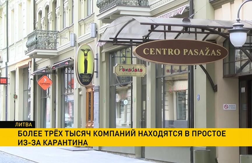 COVID-19: в Литве более трёх тысяч компаний не работают из-за карантина