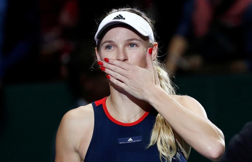Каролин Возняцки одержала первую победу на итоговом теннисном турнире в Сингапуре