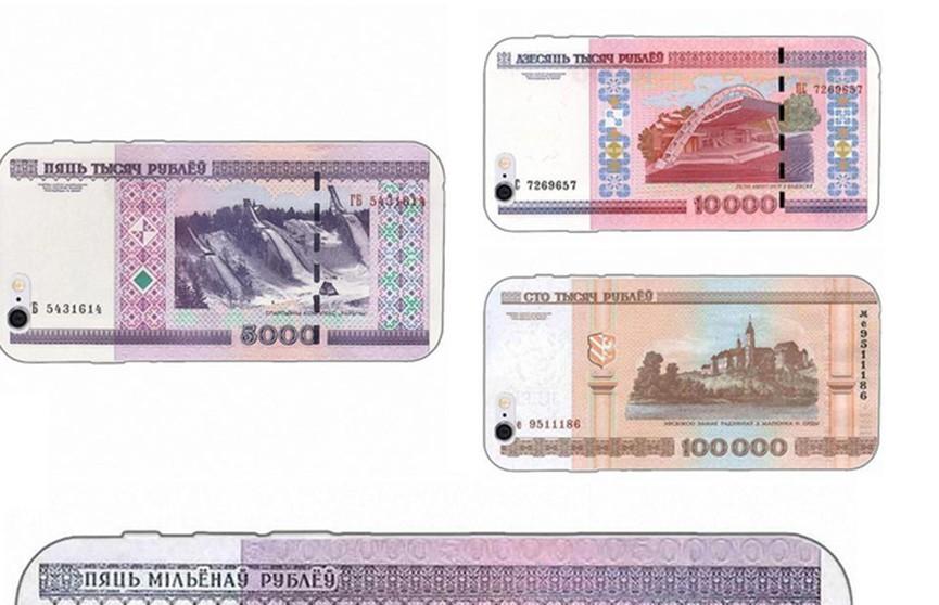 Чехлы для iPhone в виде старых белорусских рублей продают в Китае