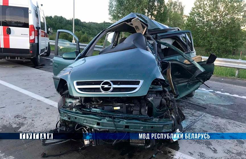 Два человека погибли в результате столкновения грузовика и легковушки под Оршей